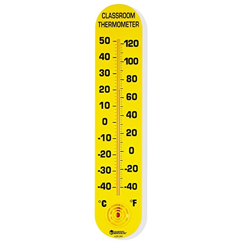 LEARNING RESOURCES CLASSROOM THERMOMETER 15H X 3W (Set of 12) by Learning Resources