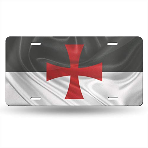 KARCARTAG Flag of The Knights Templar Novelty License Plate Tag Sign Car Accessories