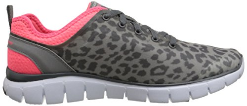 Skechers Skech-Flex - Power Player - zapatillas de sintético mujer Gris (charcoal/rose)