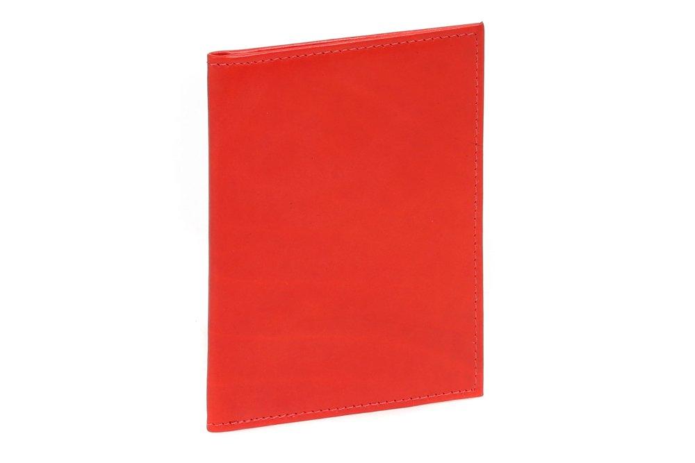 LEAS Ausweismappe- & -hülle mit 2 Sichtfenstern Echt-Leder, rot Card-Collection LE50010-01-08