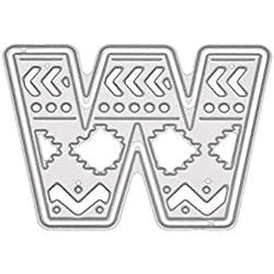 FORUU Die Cut, Metal Cutting Dies Stencils Scrapbooking Embossing Mould Templates Handicrafts DIY Card Making Paper Cards Best Gift 5CM Large Big Alphabet Letters for Scrapbooking
