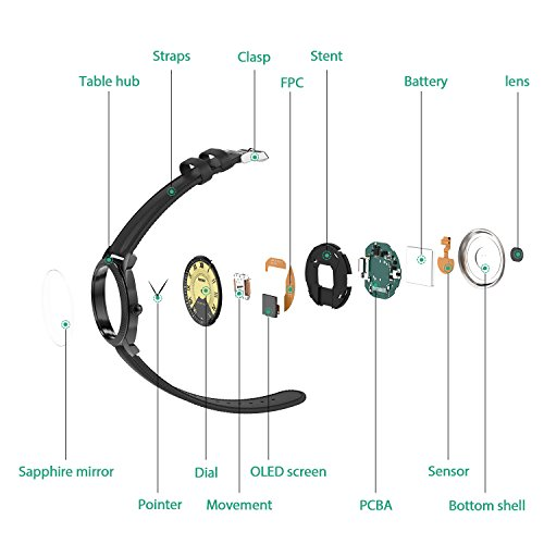 Ocamo Bluetooth 4.0 Waterproof Smart Watch Heart Rate Blood Pressure Monitor Sleep Fitness Tracker Pedometer Health Bracelet by Ocamo (Image #6)