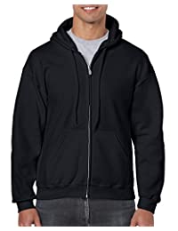 GILDAN Mens Fleece Zip Hooded Sweatshirt Shirt