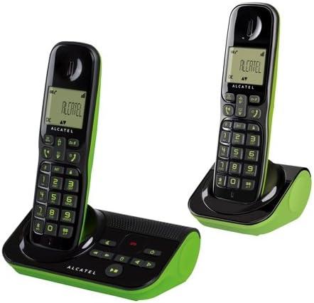 Alcatel Sigma 260 Voice DUO - Teléfono inalámbrico (2 terminales, función manos libres, contestador): Amazon.es: Electrónica