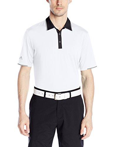 Adidas Mens Climacool Polo - adidas Golf Men's Climacool Performance Polo, White, Medium