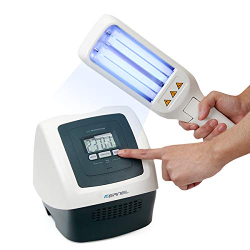 UV Phototherapy Light with Two Philips Bulbs, Smart Timer & LCD Display, Narrow Band 311nm FDA - Phototherapy Box Light