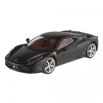 Hot wheels X5503 Ferrari 458 Italia Matt Black Elite Edition Limited Edition 1/43 Diecast Model Car by Hotwheels: Toys & Games