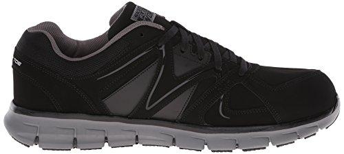 Skechers For Work Mens Synergy Ekron Alloy Toe Work Shoe Black Charcoal lN8sqrXO