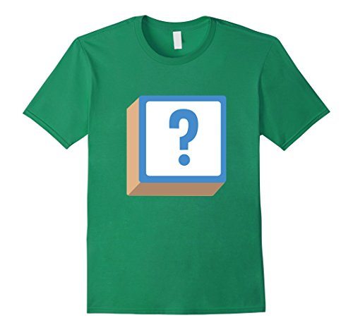Mens Question Mark ? Alphabet Block Halloween Group Costume Shirt Small Kelly Green - Alphabet Costumes Ideas