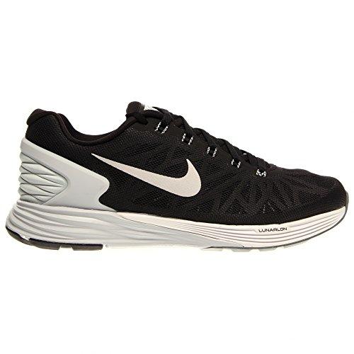 Nike Lunarglide 6 Womens Running Shoes 654434-001 Black Pure Platinum-Cool Grey-White 9.5 M US