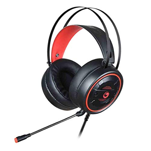 CZZ Overhead Headphones 3.5mm Gaming Headset Mic Led Headphones, Over Ear Headphones with Noise Canceling Sound Stereo Gaming Headset, for PS4, Xbox One, Nintendo Switch, PC, PS3, Mac, Laptop