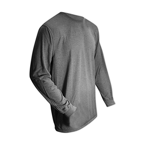 Magid Glove & Safety ARS650-GY-5XL Magid AR Defense NFPA 70E CAT2 6.5 oz. Jersey Arc-Rated Knit Shirt, Medium, Grey, 5XL by Magid Glove & Safety (Image #3)