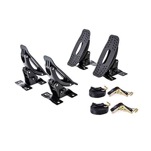 AA Products Steel Jetty Saddle Rack for Kayak Carrier Canoe Boat Paddle Board Surfboard Roof Top Mount on Car SUV Truck Crossbar with Ratchet Lashing - Carrier Saddle