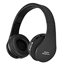 Wireless Headphones,FORTULY Bluetooth Headset with Microphone for Kids Adult ,Lightweight On-Ear Headphones,Earphones for FM Radio MP3 MP4 PC Tablets Mobiles- Adjustable