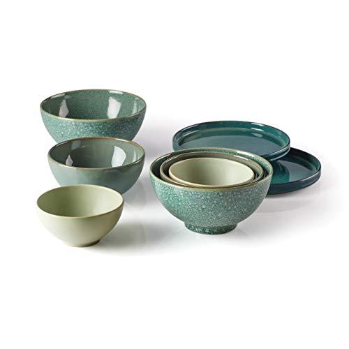 Lenox Luna Nesting Dinnerware Set, 11.40 LB, Green