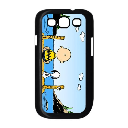 Diycover Snoopy White Clouds Yellow Samsung Galaxy S3 I9300/I9308/I939 Here Comes Amazing hard Cover Case (Samsung Galaxy S3 Cases Snoopy)