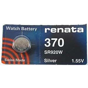 Renata - Pila de botón 370 para reloj (1,55 V)