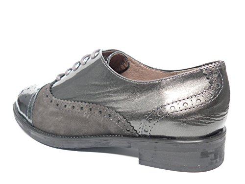 Jaen Zapatos Oxford Gris 3514 De 8 Maria Ante En Piel Mujer Calmoda Combinados Tipo Marca Cordones La r6zIZqnxr