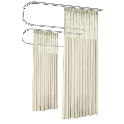 Macochico Extra Wide Medical Curtains,15ft Wide x 7ft Tall Pinch Pleated Hospital Curtains,Privacy Cubicle Curtain,Beige Yellow Clinic Curtains,SPA Lab Cubicle Curtain Room Divider(4 Panel) (System Divider Room)