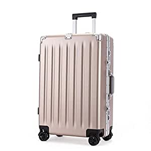 GLJJQMY Trolley PC Suitcase 21 Inch Boarding General Wheel Aluminum Frame Box Trolley case (Color : Rose Powder, Size : 21 inches)