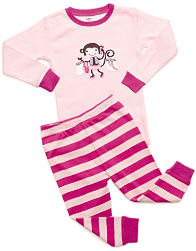 DinoDee Monkey 2 Piece Pajama Set 100% Cotton 6 Years