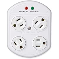 360 Electrical 36035-W 4-Outlet Rotating Surge Protector by 360 Electrical