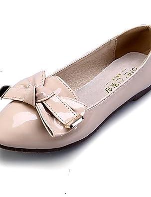 PDX/Damen Schuhe flach Ferse Ballerina/spitz/geschlossen Zehen Wohnungen Kleid Schwarz/mandel, - black-us5.5 / eu36 / uk3.5 / cn35 - Größe: One Size