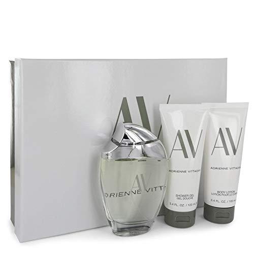 (AV by Adrienne Vittadini Gift Set -- 3 oz Eau De Parfum Spray + 3.3 Body Lotion + 3.3 oz Shower Gel)