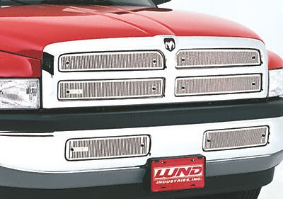 Lund 87035 Stainless Steel Screen Front 2-Piece Custom Grille Insert - Lund Stainless Screen Front Grille
