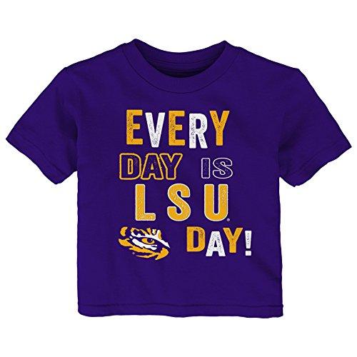 - Gen 2 NCAA LSU Tigers Toddler Everyday Short Sleeve Tee, 3T, Regal Purple