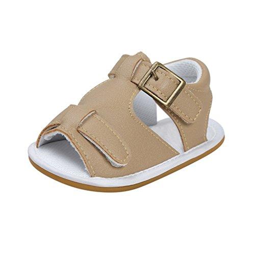 Sandalias De Bebe,BOBORA Prewalker Zapatos Primeros Pasos Para Bebe Baby Sandalias De Goma Antideslizante Inferior Del Bebe A5