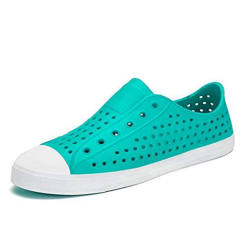 - Mens Womens Lightweight Breathable Slip-On Sneaker Garden Clogs Beach Sandals Water Shoes Green 5.5 Women / 4 Men