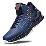 BEITA High Upper Basketball Shoes Sneakers Men Breathable Sports Shoes Anti Slip Blue