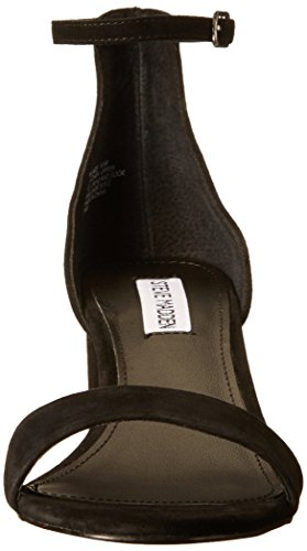 Black Steve Women's Suede Irenee Heeled Madden Dress Sandal vnFOw7qT