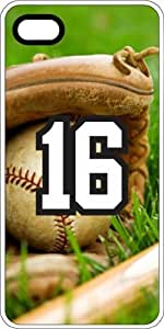 Baseball Sports Fan Player Number 16 White Rubber Decorative iphone 4s Case