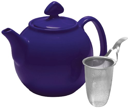 Chantal Tea for Four Teapot with Stainless Steel Infuser, 1-1/2-Quart Capacity, Indigo ()