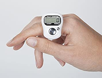 Inditradition Digital Hand Tally Counter | 5 Digit Counting, Re-settable, With Finger Strap (Assorted Color)