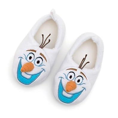 CHILDS OLAF FROZEN NOVELTY SLIPPERS