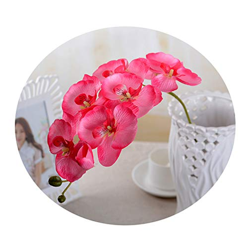 Artificial Flowers Fake Phalaenopsis Silk Flower Fashion Butterfly Orchid Bouquet Party Decor Wedding Homeon 1Pcs Pink