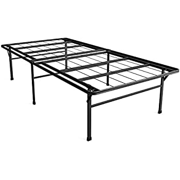 zinus 18 inch premium smartbase mattress foundation 4 extra inches high for under bed storage platform bed frame box spring replacement strong