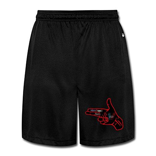 SYY Men's Twenty One Shot Pilots Shorts Jogger Pants Color Black Size - Ray Ban Customized