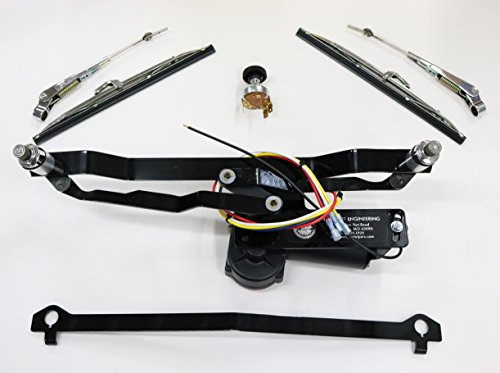 - NEW PORT ENGINEERING NE4047FT - ELECTRIC WINDSHIELD WIPER MOTOR FOR FORD TRUCK WITH 2SPEED SWITCH INCLUDED