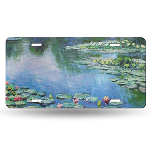 Dunpaiaa Cropped Water Lilies Monet Automobile (6X12) Front License Plate License/Vanity Plate ()