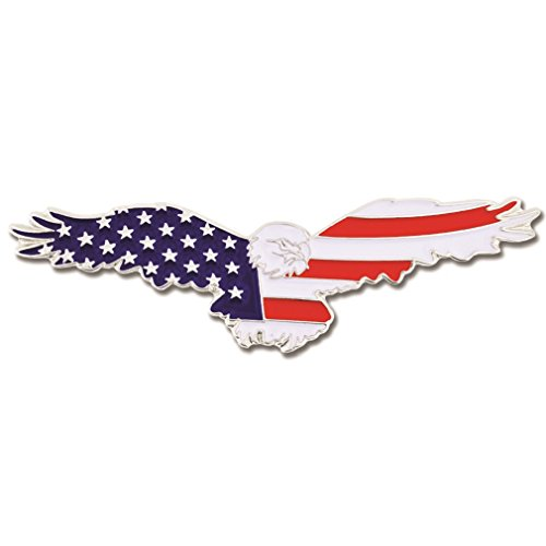 PinMart American Flag Patriotic Soaring Eagle Enamel Lapel Pin