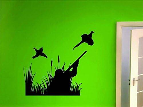 Black 8 x 12 Design with Vinyl 2015 BS 493Hunting Hunter Birds Man /& Boys Wall Decal