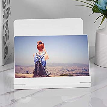 Meiyiu 10 Tel/éfono m/óvil de 12 Pulgadas Pantalla 3D Soporte de Lupa de Video Plegable Ampliada Escritorio Smartphone Pel/ícula HD Amplificador Proyector Soporte Negro 10 Pulgadas