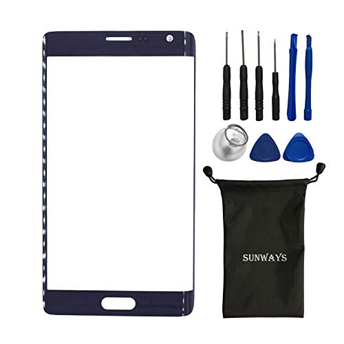 Sunways Outer Glass Lens Screen Replacement for Samsung Galaxy Note Edge N915A N915T N915VZ with Device Opening - Replacement Screen Edge Note