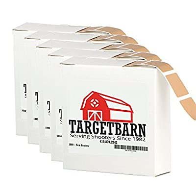 Target Pasters are typically sold in boxes of 1000 stickers like this. Conveniently, the box also doubles as a dispenser making using them efficiently at the range pretty easy.