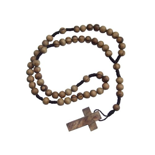 (Naturally Med Holy Land Olive Wood String Rosary)