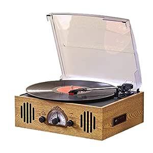 DNAN Reproductor de Discos de Vinilo Antiguo, fonógrafo Retro de ...